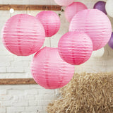 Paper Lantern, Blush, Hot Pink, Ivory and White