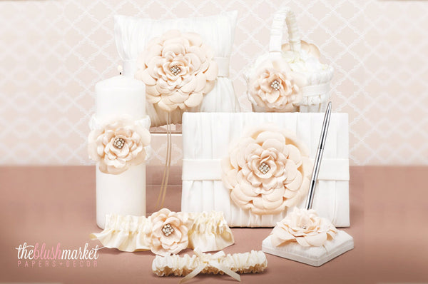 Shabby Chic Ivory and White Wedding Collection