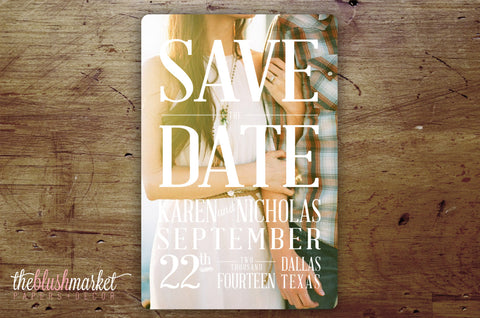 Save the Date Magnet - Dream Vintage Romantic (Envelopes Included)