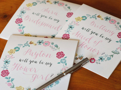 Personalized Wedding Party Card Collection
