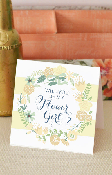Will You Be my Flower Girl - Spring Flowers