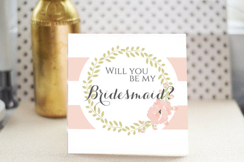Will You Be my Bridesmaid Card - Romantic Blush
