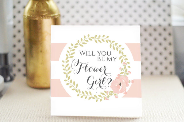 Will You Be my Flower Girl Card - Romantic Blush