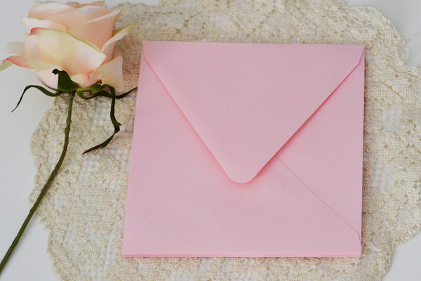 Gorgeous Blush Envelopes SQUARE Envelopes (Set of 25)