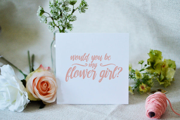 Will You Be my Flower Girl Card - Romantic Peach.