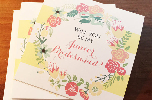 Will You Be my Junior Bridesmaid - Spring Flowers