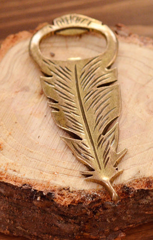 Feather Peacock  Bottle Opener (Antique Gold)