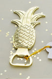 Pineapple Bottle Opener Favor (Gold)
