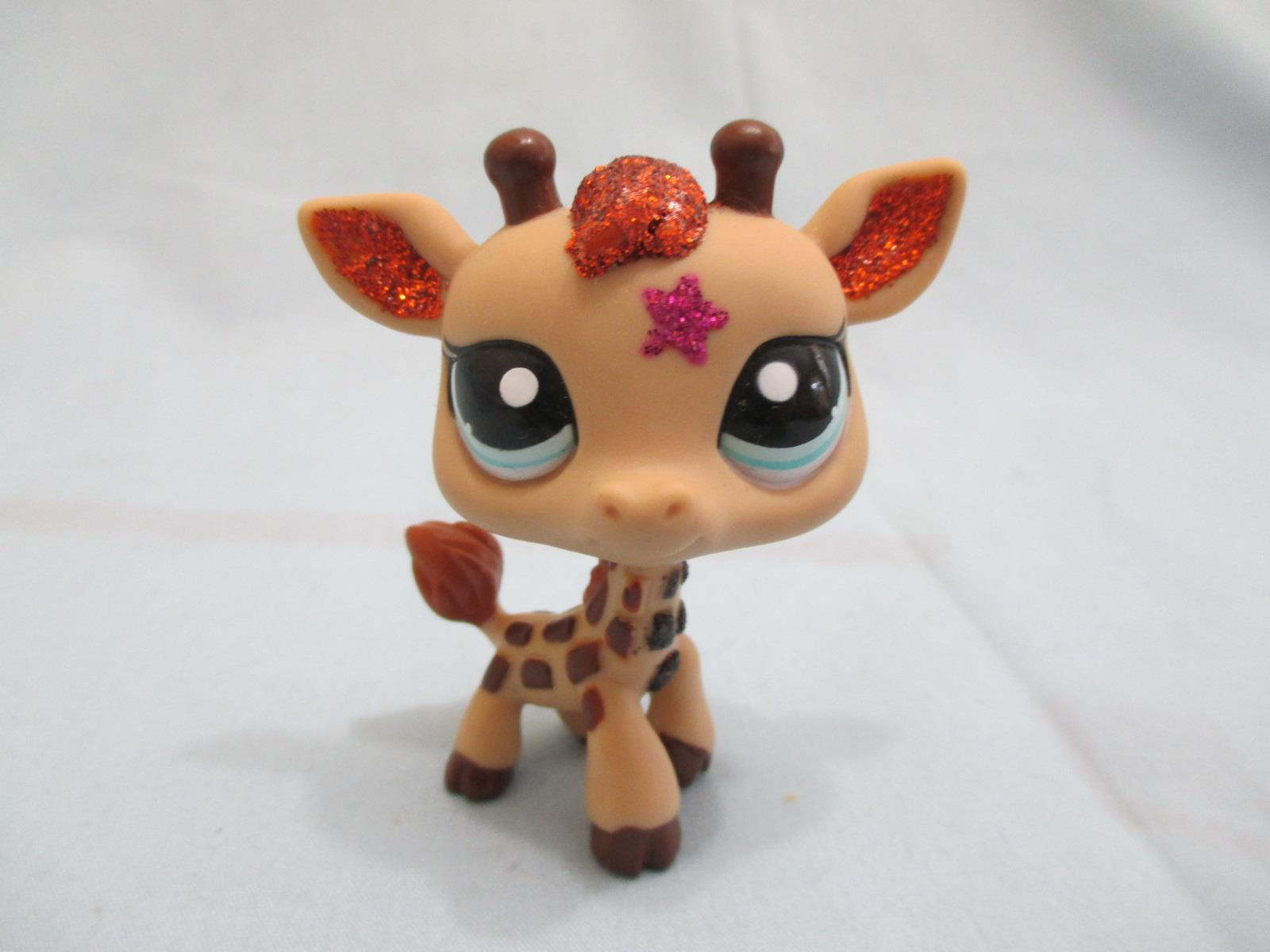Littlest Pet Shop 2348 Sparkle Glitter Star Giraffe Authentic Lps