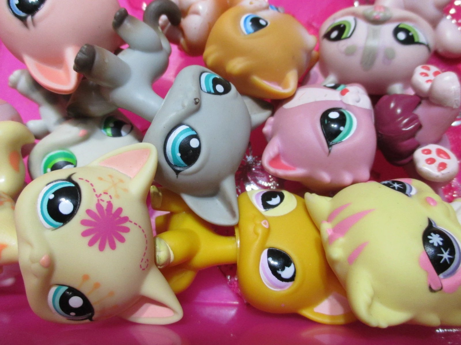 Littlest Pet Shop Lot 5 Random Generation 4 Totally Talented with 1 Dog or Cat