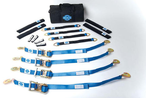 "Pro Pack with 24"" Axle Straps (6 Foot) and Direct Hook Ratchet - Comp4x4"