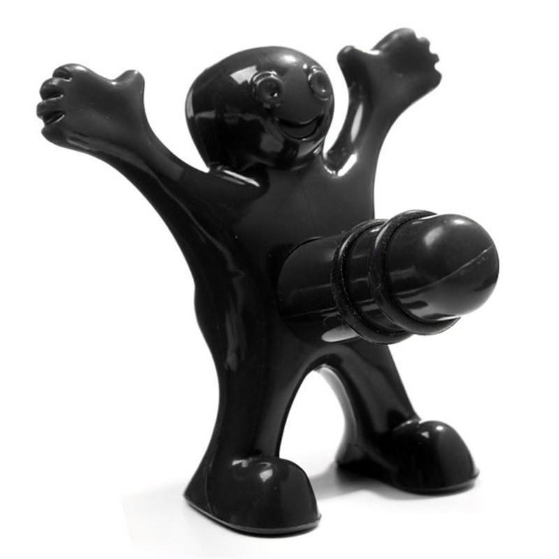 Happy Man Wine Stopper in Black!
