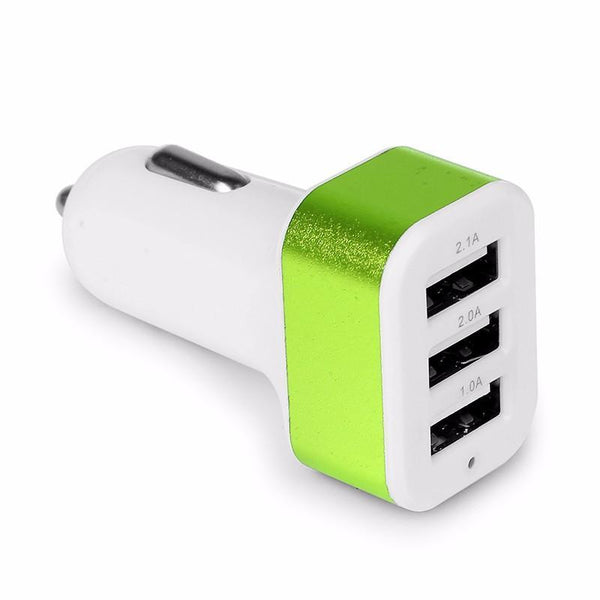 Universal USB Car Charger with 3 Port Adapter Socket
