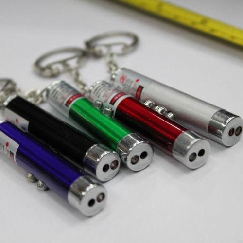 Laser Pointer Pen Red Laser with White LED Light Cat Toy Random Color!!