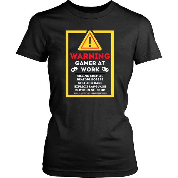 Gamer at work! Women's t-shirt