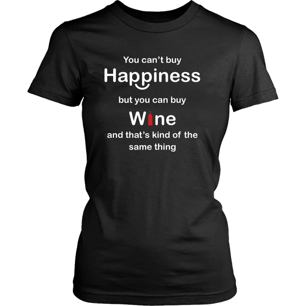 Happiness and Wine women's t-shirt