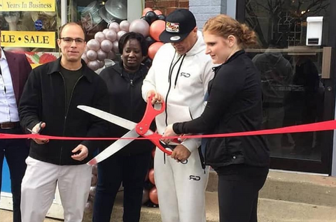 Ribbon Cutting with Mayor of Alexandria