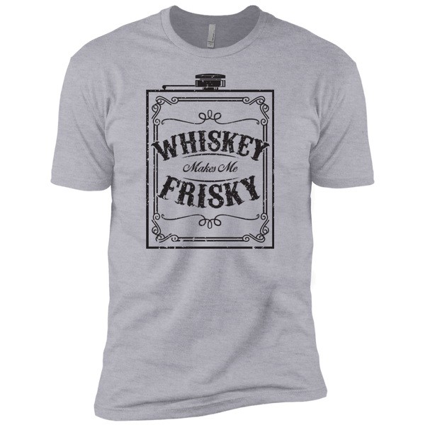 Whiskey Makes Me Frisky Black Text Mens Short Sleeve T-Shirt