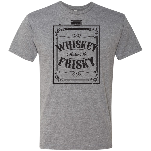 Whiskey Makes Me Frisky Black Text Men's Triblend T-Shirt