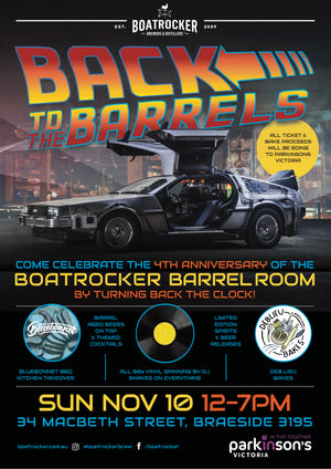 BARREL ROOM 4th BIRTHDAY – SUNDAY, NOV. 10th