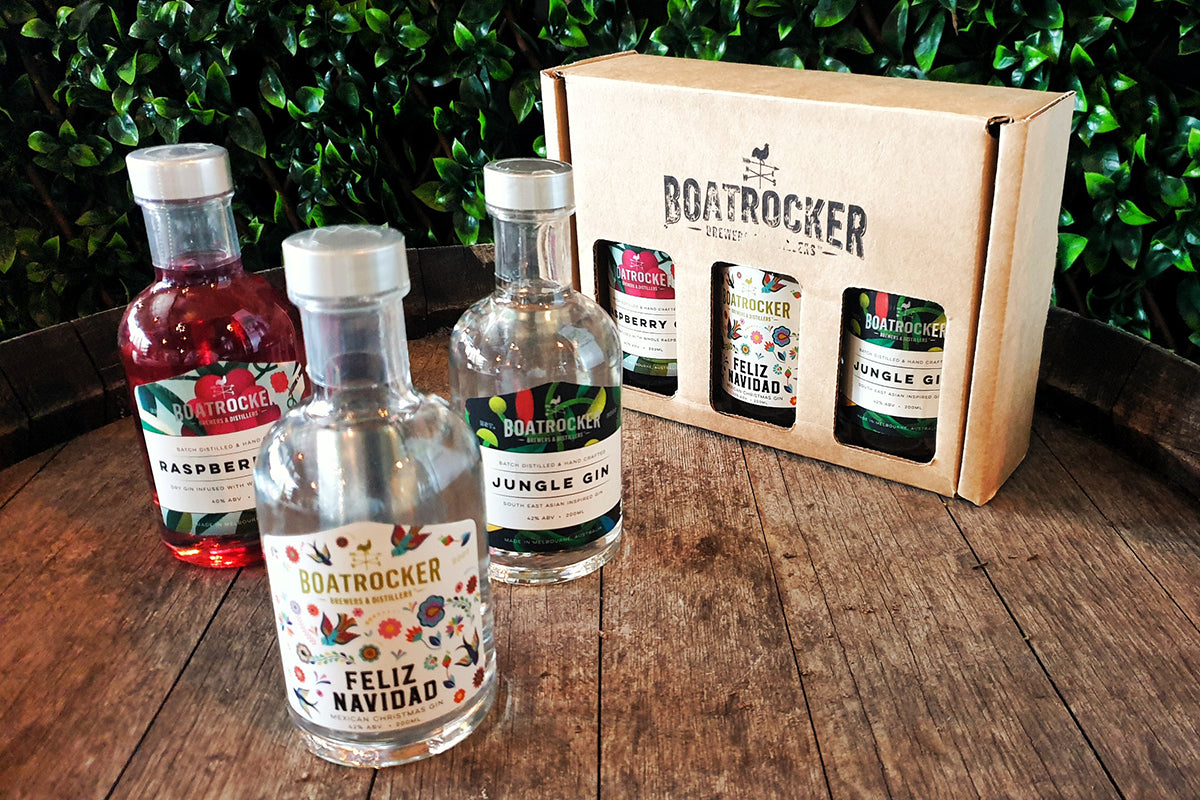 Christmas Gin Trio Gift Pack