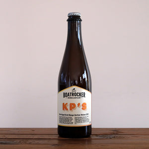 Boatrocker KP's Barrel Aged Brett Mango Berliner Weisse 2020 Mango Sour Beer Bottle