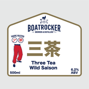 Boatrocker Three Tea Wild Saison Logo