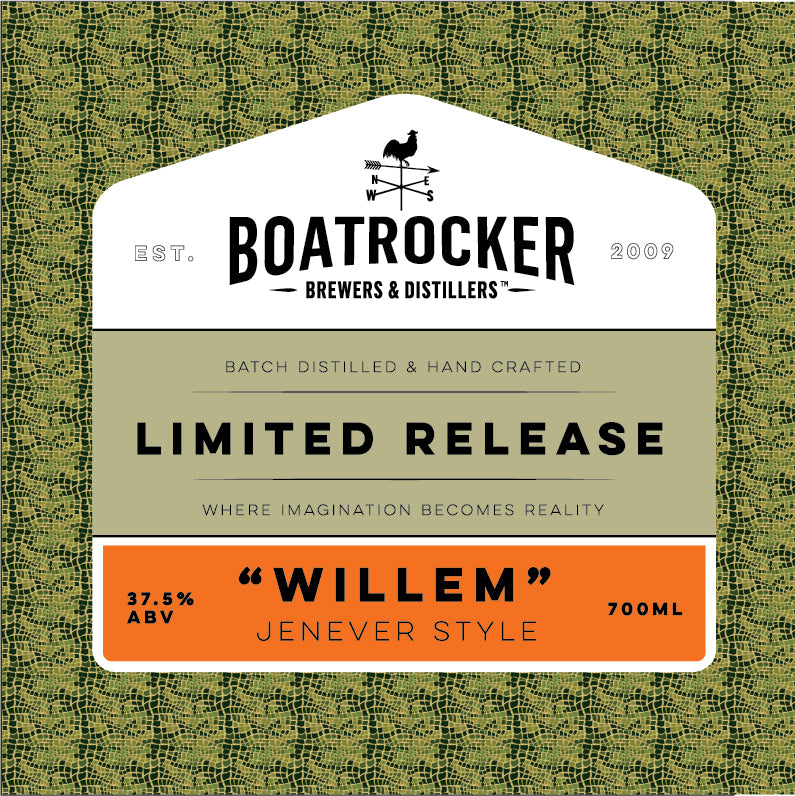 Boatrocker Limited Release Willem Jenever Style Gin Logo