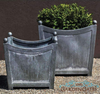 Get Authentic Charm with Chic Zinc Planters