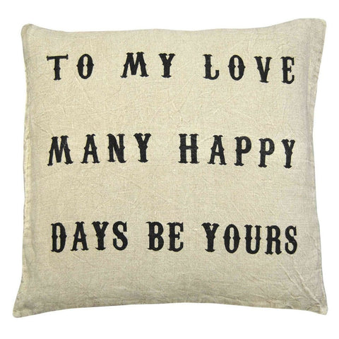 To My Love Pillow by Sugarboo Designs