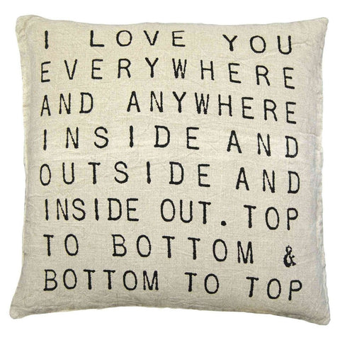 I Love You Everywhere Pillow by Sugarboo Designs