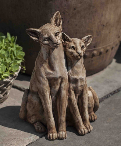 Siamese Cats Garden Statue by Campania International