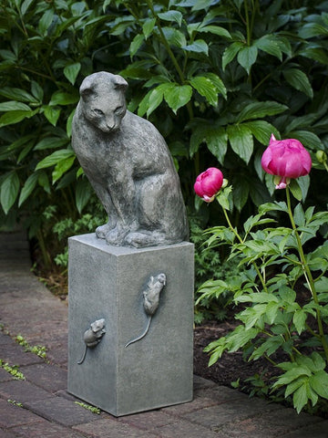 Cat and Mouse Garden Statue by Campania International