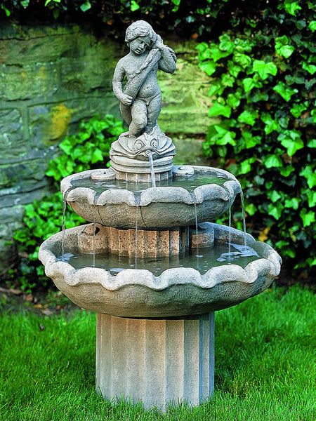 Campania International Amalfi Two-Tier Fountain