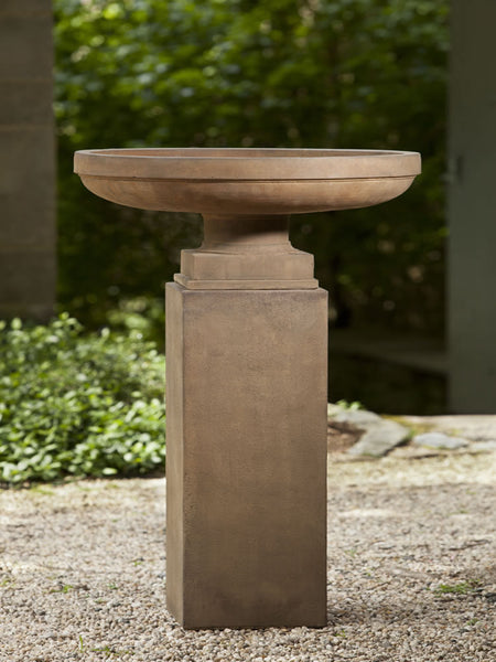 Campania International Cliveden Urn on Tall Square Pedestal