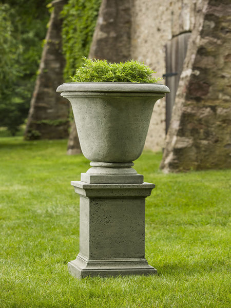 Campania International Rustic Hampton Urn with Pedestal