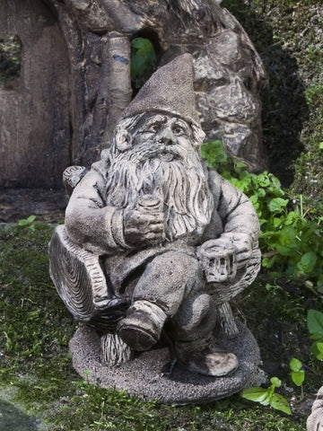 Gribblegrin Garden Gnome Statue by Campania International