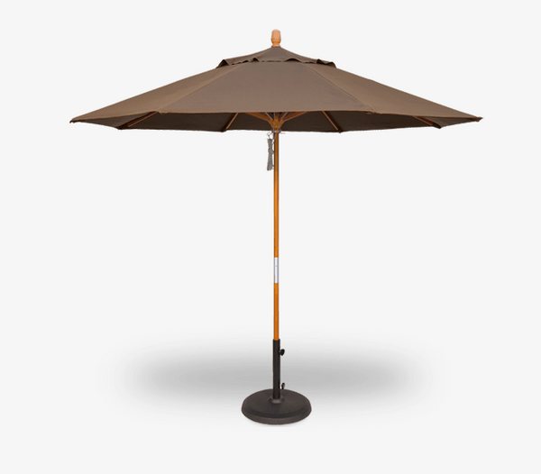 Wooden Umbrella Quad Pulley Lift by Treasure Gardens