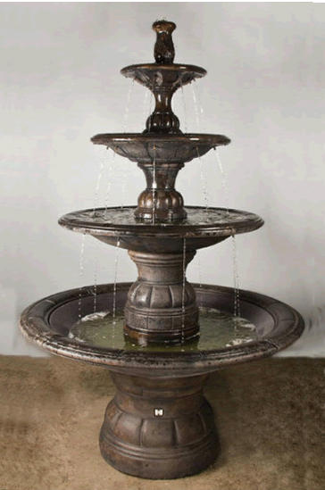 GRANDE CONTEMPORARY FOUR TIER FOUNTAIN, 14 PC. BY HENRI STUDIO