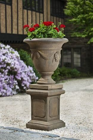 Campania International Tivoli Urn with Pedestal