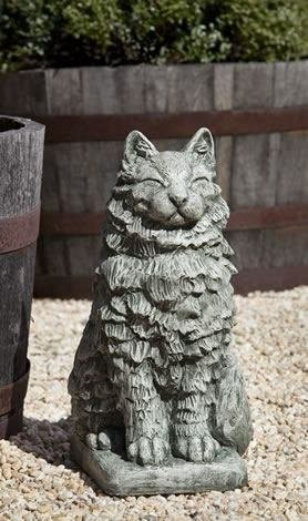 9 cat statues so adorable you will meow the garden gates campania international cheswick cat garden statue workwithnaturefo