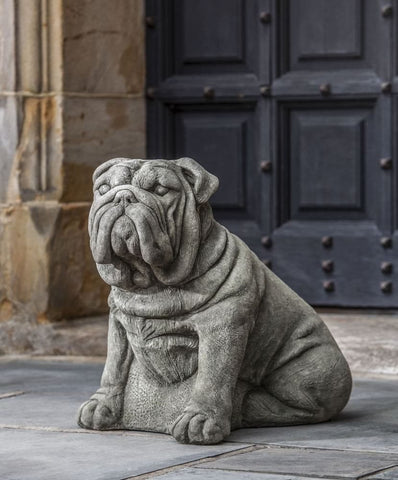 Antique Bulldog Statue by Campania International