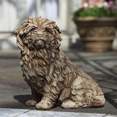 Campania International Fluffy Dog Garden Statue