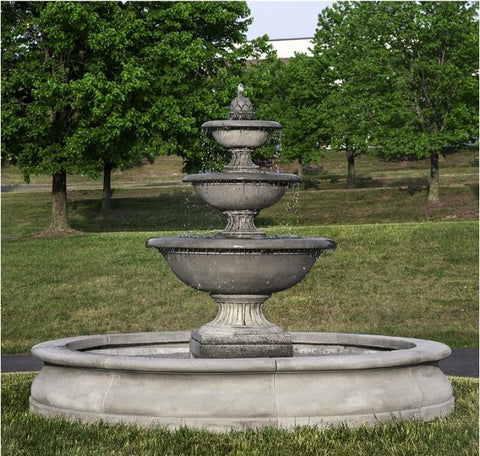Campania International Fonthill Fountain in Basin