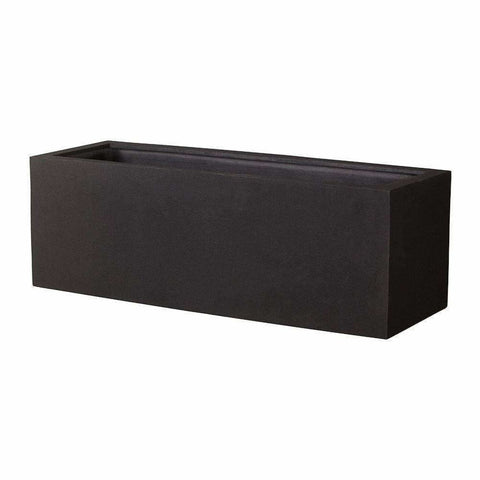 Campania International Big Box Planter in Onyx Black - Modular Planters