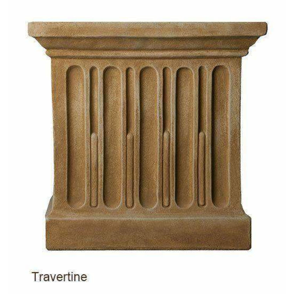 Campania International Charleston Garden Fountain - Travertine - Estate Fountains
