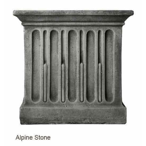 Campania International Estate Large Rolled Rim Planter - Alpine Stone - Cast Stone Planters