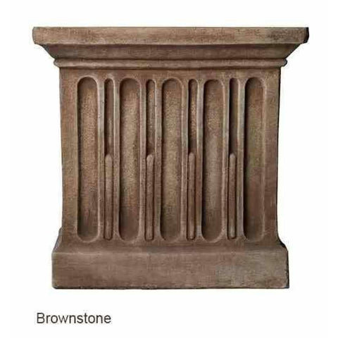 Campania International Estate Large Rolled Rim Planter - Brown Stone - Cast Stone Planters