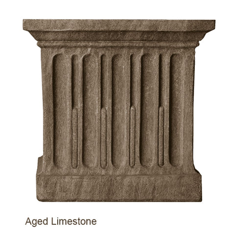 Campania International Estate Large Rolled Rim Planter - Cast Stone Planters
