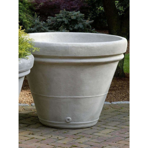 Image of Campania International Estate Large Rolled Rim Planter - Cast Stone Planters